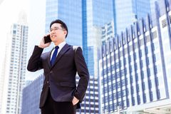 Portrait charming handsome executive man: Attractive businessman royalty free stock images
