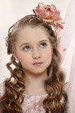 Portrait of a charming little girl Royalty Free Stock Photo