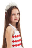 Portrait of charming little girl in crown Royalty Free Stock Photos