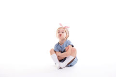 Portrait of a charming little girl. royalty free stock image