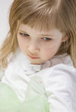 Portrait of a charming little girl Stock Image