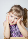 Portrait of a charming little girl Stock Photography