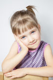 Portrait of a charming little girl Stock Photo