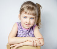 Portrait of a charming little girl Royalty Free Stock Photos