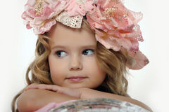 Portrait of a charming little girl Royalty Free Stock Image