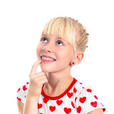 Portrait of charming smiling blonde girl Royalty Free Stock Photo