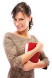 Portrait of charming student with textbook Royalty Free Stock Image