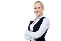 Portrait of charming young business lady Royalty Free Stock Images