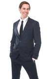 Portrait of a charming young businessman smiling Stock Photos