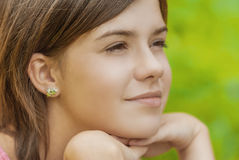 Portrait of charming young female Royalty Free Stock Photos