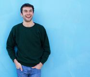 Portrait of a charming young man smiling royalty free stock images