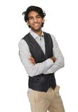 Portrait of a charming young man smiling Stock Image