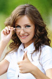 Portrait charming young woman Royalty Free Stock Photos