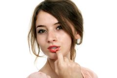 Portrait of charming young woman Royalty Free Stock Image