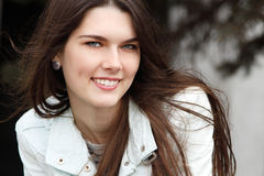 Portrait of charming young woman Royalty Free Stock Photos