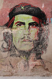 Portrait of Che Guevara on a wall Stock Photo