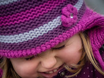 Portrait of a cheeky little girl Stock Photography