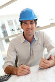 Portrait of cheerful architect Royalty Free Stock Photos