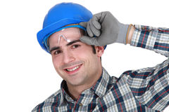 Portrait of a cheerful artisan Royalty Free Stock Photos