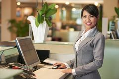 Pretty receptionist Stock Photos