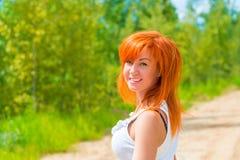 Portrait of cheerful beautiful girl Stock Photo