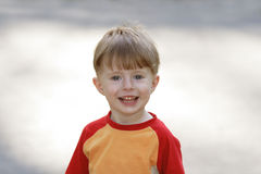 Portrait of the cheerful boy Stock Photo