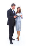 Portrait of a cheerful business couple stock photo
