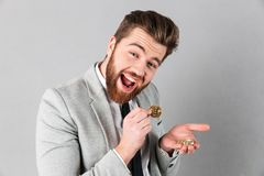 Portrait of a cheerful businessman Stock Images