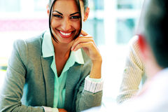 Portrait of a cheerful businesswoman Stock Photography