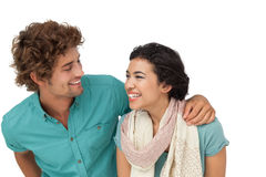 Portrait of a cheerful casual young couple Royalty Free Stock Images