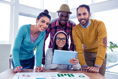Portrait of cheerful confident business team Stock Images