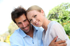 Portrait of cheerful couple Stock Photo