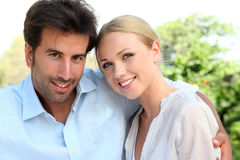 Portrait of cheerful couple Stock Photography