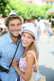Portrait of cheerful couple on summer holidays Stock Image