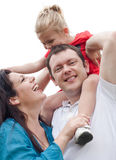 Portrait of cheerful couple with their daughter Royalty Free Stock Images