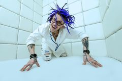 Crazy punk doctor royalty free stock image