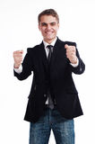 Win and success concept in business Stock Images