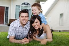 Portrait of Cheerful Family Stock Photography