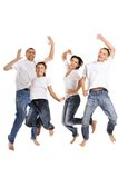 Portrait of a cheerful family Stock Photos
