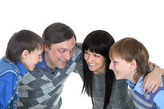 Portrait of cheerful family of four Royalty Free Stock Photos