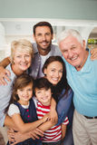 Portrait of cheerful family Royalty Free Stock Photography