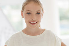 Portrait of cheerful girl smiling Stock Photography