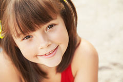 Portrait of cheerful girl Royalty Free Stock Photos