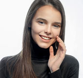 Portrait of a cheerful girl Royalty Free Stock Images