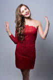 Portrait of a cheerful glamor beautiful girl Stock Photo