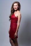 Portrait of a cheerful glamor beautiful girl Stock Image