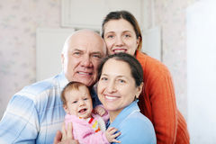 Portrait of cheerful grandparents Stock Photo