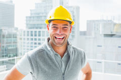 Portrait of cheerful handyman Royalty Free Stock Image