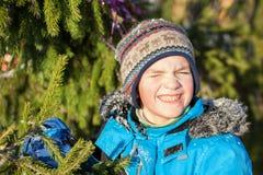 Portrait of cheerful happy child Stock Photos