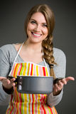 Portrait of cheerful housewife Stock Photography